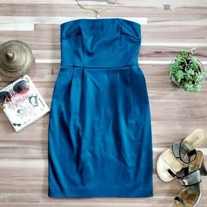 Express Studio Teal Strapless cocktail dress sz 0